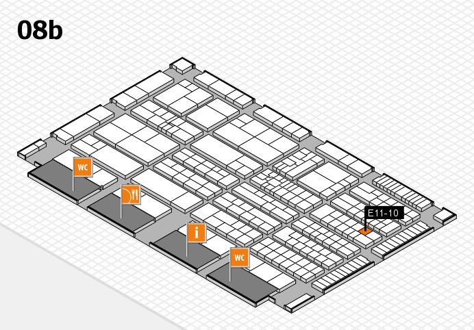 K 2016 hall map (Hall 8b): stand E11-10