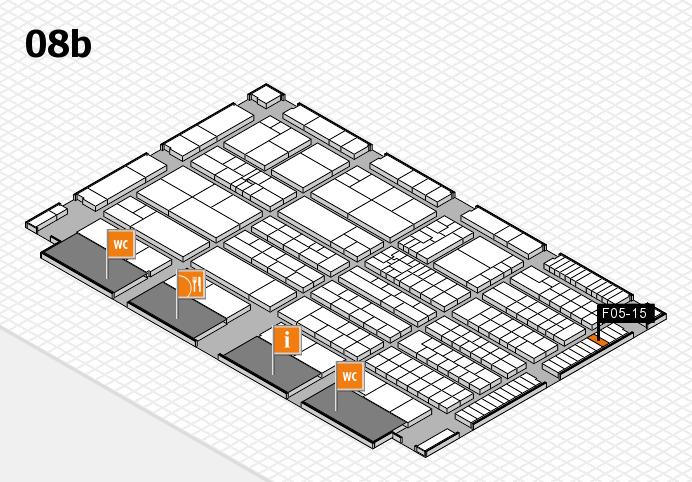 K 2016 hall map (Hall 8b): stand F05-15