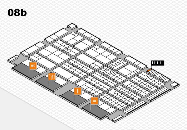 K 2016 hall map (Hall 8b): stand H11-1