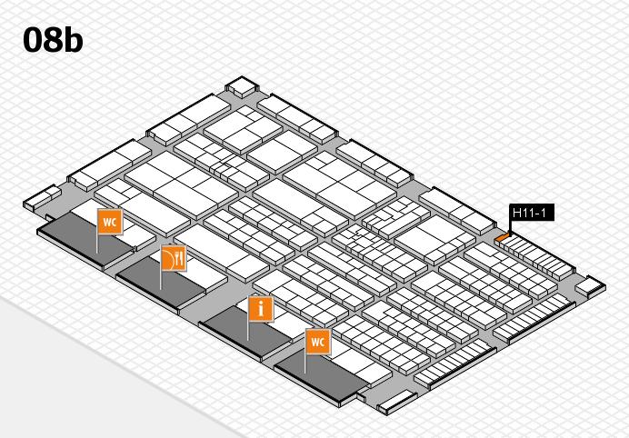 K 2016 Hallenplan (Halle 8b): Stand H11-1