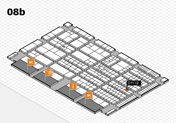 K 2016 hall map (Hall 8b): stand D11-12