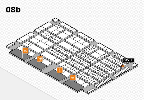 K 2016 hall map (Hall 8b): stand G11-11