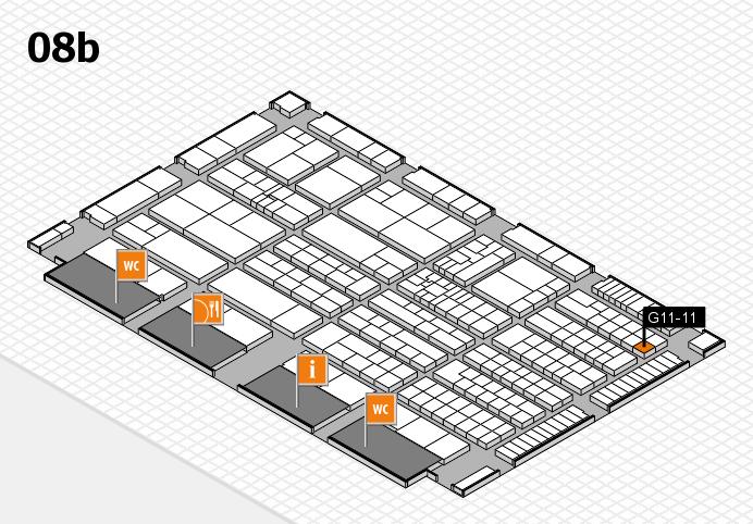 K 2016 Hallenplan (Halle 8b): Stand G11-11