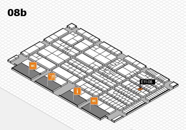 K 2016 hall map (Hall 8b): stand E11-08