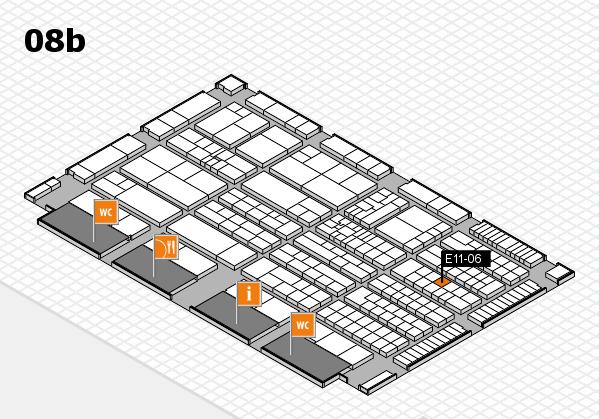 K 2016 hall map (Hall 8b): stand E11-06