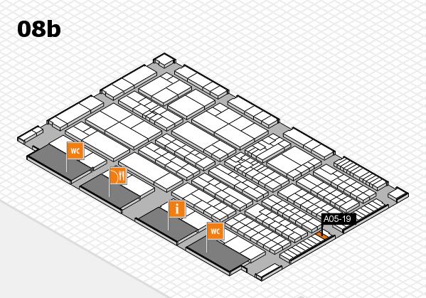 K 2016 hall map (Hall 8b): stand A05-19