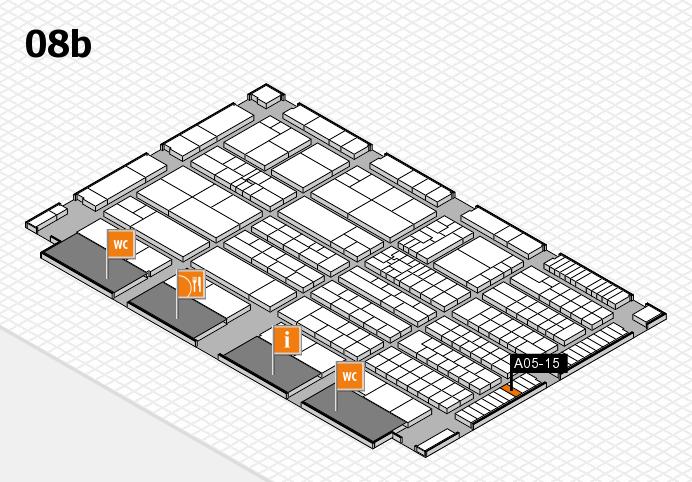 K 2016 hall map (Hall 8b): stand A05-15