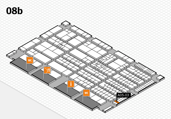 K 2016 hall map (Hall 8b): stand A05-03
