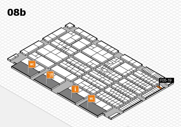 K 2016 hall map (Hall 8b): stand F05-19