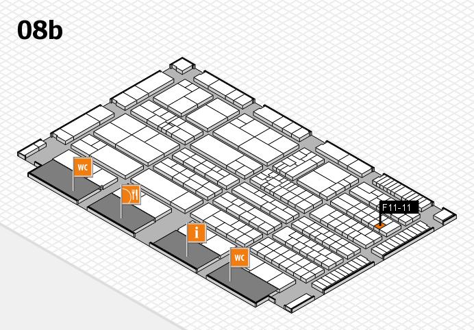 K 2016 hall map (Hall 8b): stand F11-11