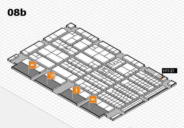 K 2016 hall map (Hall 8b): stand H11-21