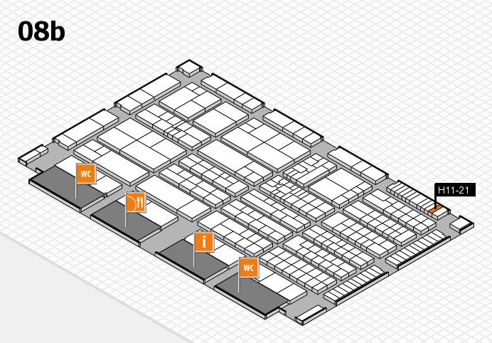 K 2016 Hallenplan (Halle 8b): Stand H11-21