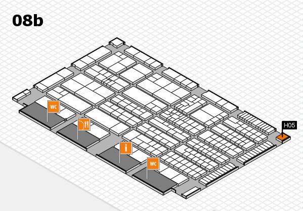 K 2016 hall map (Hall 8b): stand H05