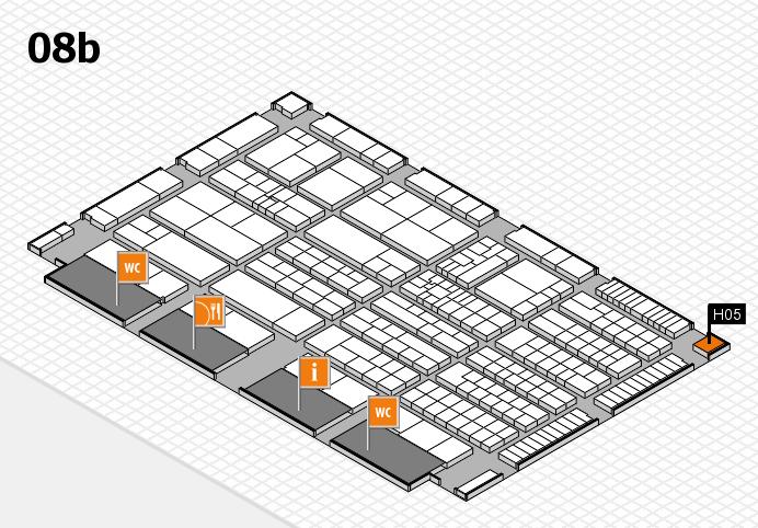 K 2016 Hallenplan (Halle 8b): Stand H05
