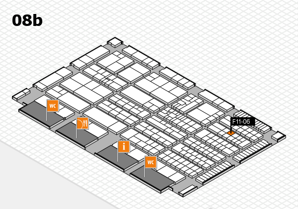K 2016 hall map (Hall 8b): stand F11-06
