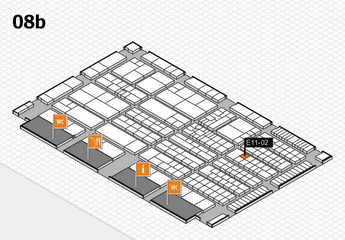 K 2016 hall map (Hall 8b): stand E11-02