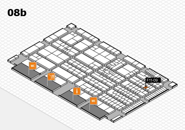 K 2016 hall map (Hall 8b): stand F11-09
