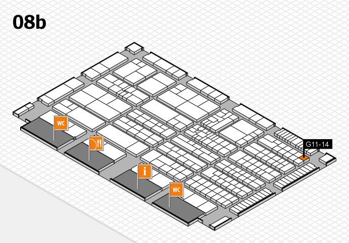 K 2016 hall map (Hall 8b): stand G11-14