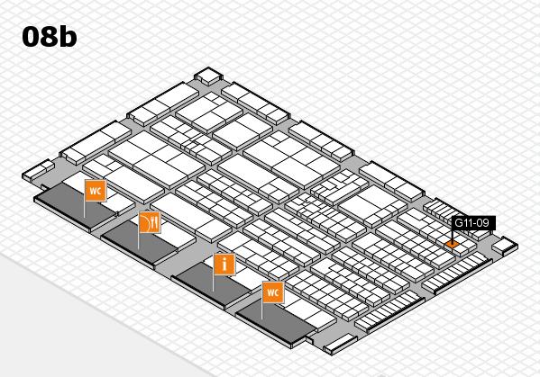 K 2016 hall map (Hall 8b): stand G11-09