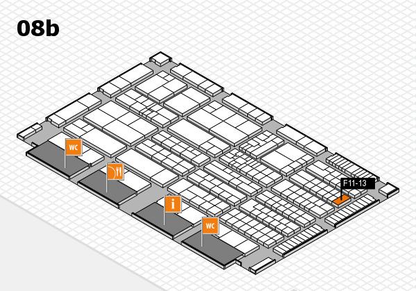 K 2016 hall map (Hall 8b): stand F11-13