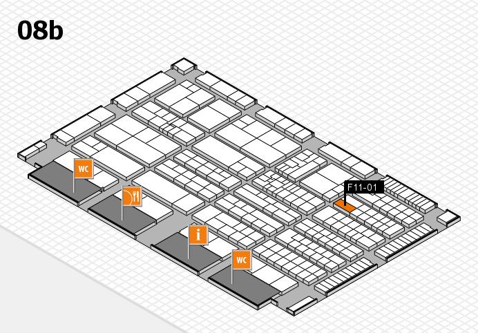 K 2016 hall map (Hall 8b): stand F11-01
