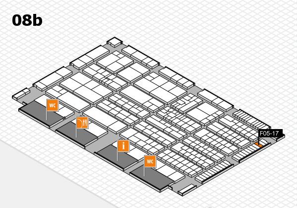 K 2016 hall map (Hall 8b): stand F05-17