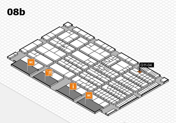 K 2016 hall map (Hall 8b): stand G11-04