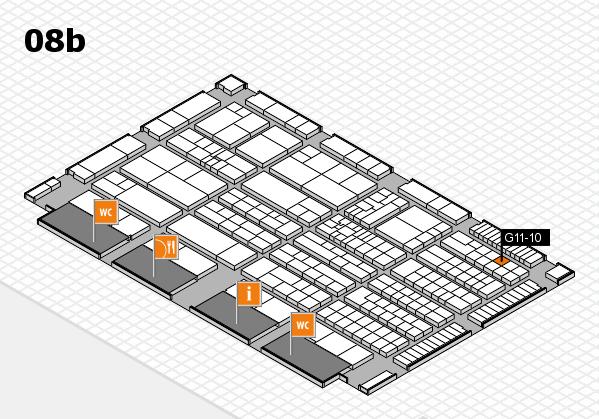 K 2016 hall map (Hall 8b): stand G11-10