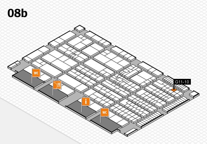 K 2016 Hallenplan (Halle 8b): Stand G11-10
