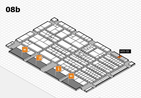 K 2016 hall map (Hall 8b): stand H11-13