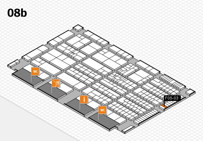 K 2016 hall map (Hall 8b): stand F05-03