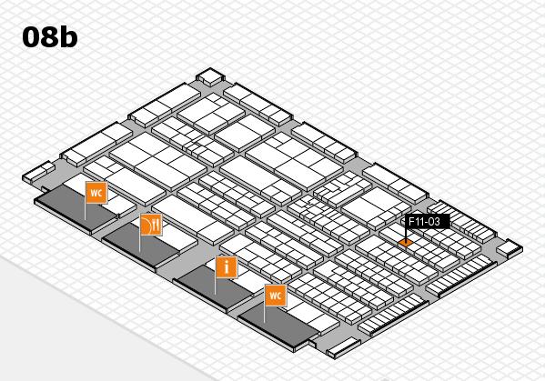 K 2016 hall map (Hall 8b): stand F11-03