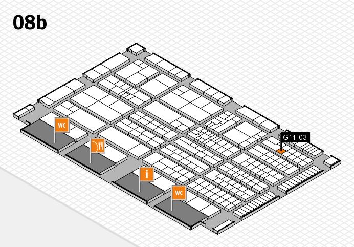 K 2016 Hallenplan (Halle 8b): Stand G11-03