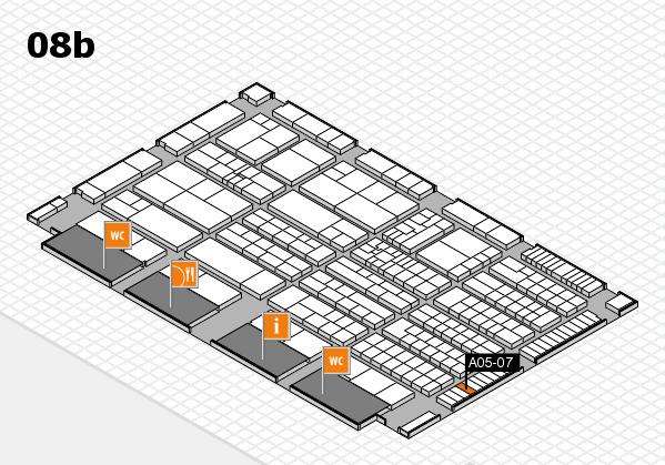 K 2016 hall map (Hall 8b): stand A05-07