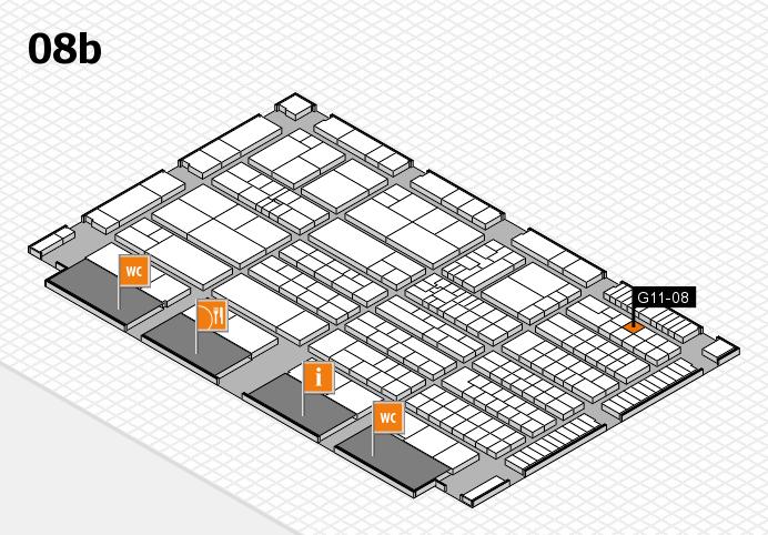 K 2016 hall map (Hall 8b): stand G11-08