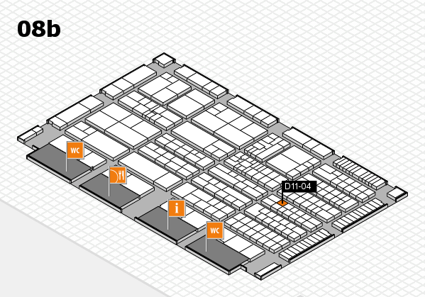 K 2016 hall map (Hall 8b): stand D11-04
