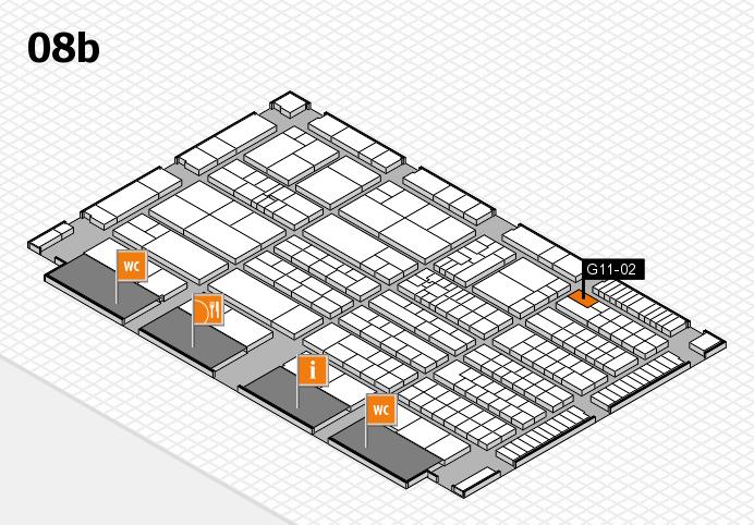 K 2016 hall map (Hall 8b): stand G11-02