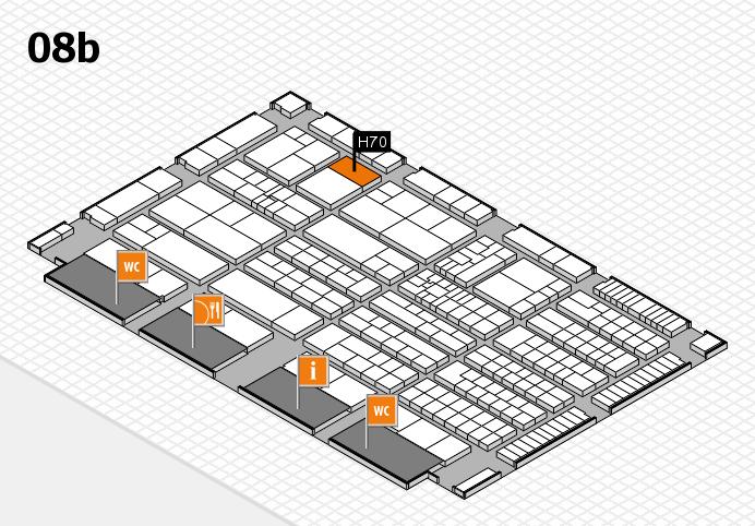 K 2016 hall map (Hall 8b): stand H70