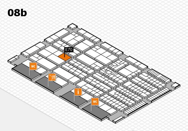 K 2016 hall map (Hall 8b): stand E70