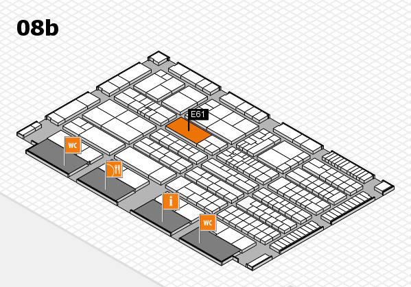 K 2016 hall map (Hall 8b): stand E61