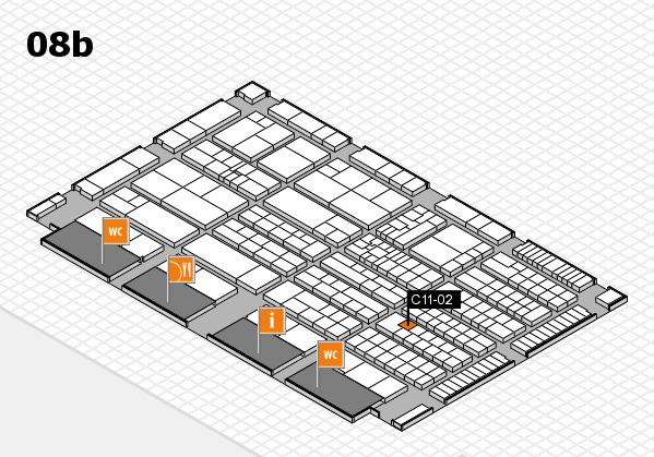 K 2016 hall map (Hall 8b): stand C11-02