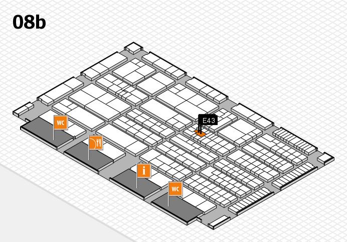 K 2016 hall map (Hall 8b): stand E43