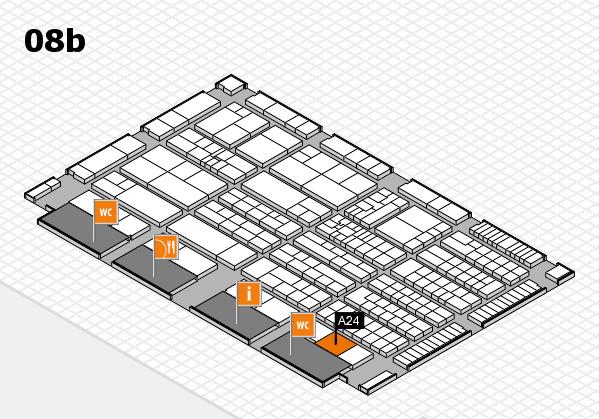 K 2016 hall map (Hall 8b): stand A24