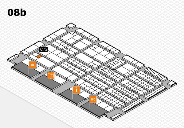 K 2016 hall map (Hall 8b): stand C72