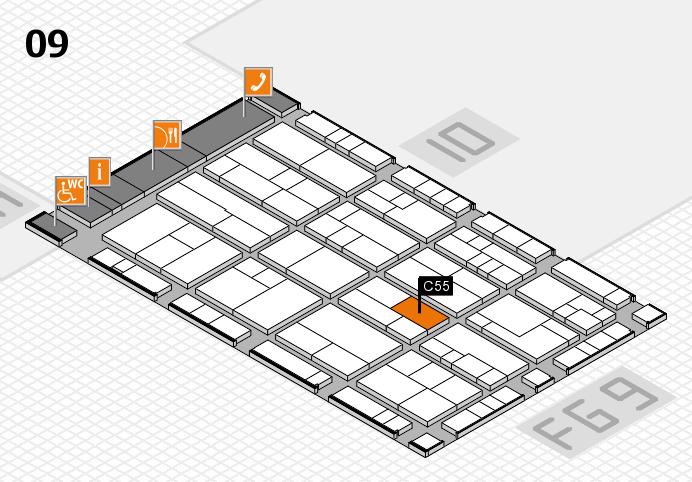 K 2016 hall map (Hall 9): stand C55