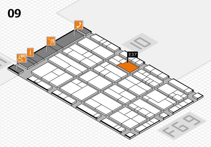 K 2016 Hallenplan (Halle 9): Stand E37