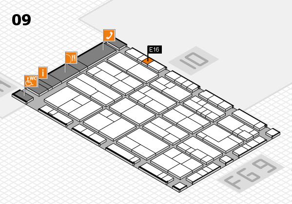 K 2016 hall map (Hall 9): stand E16