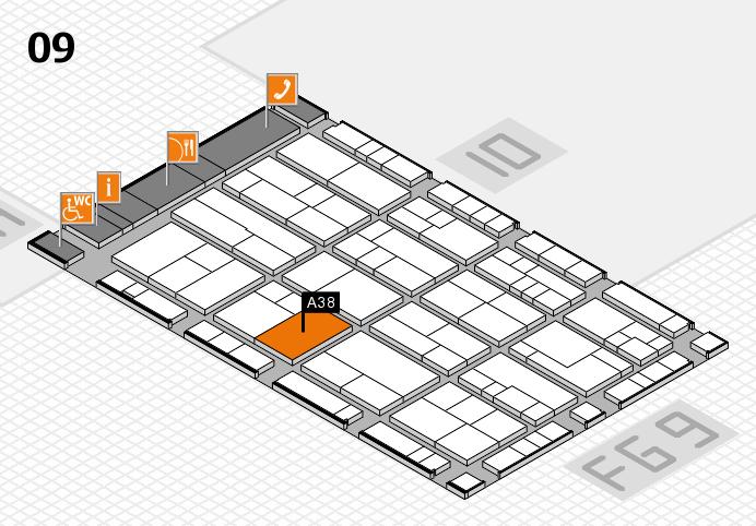 K 2016 Hallenplan (Halle 9): Stand A38