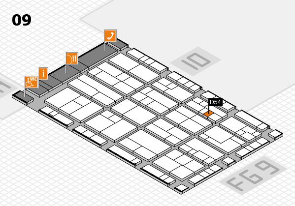 K 2016 Hallenplan (Halle 9): Stand D54