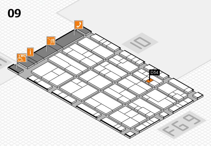 K 2016 hall map (Hall 9): stand D54